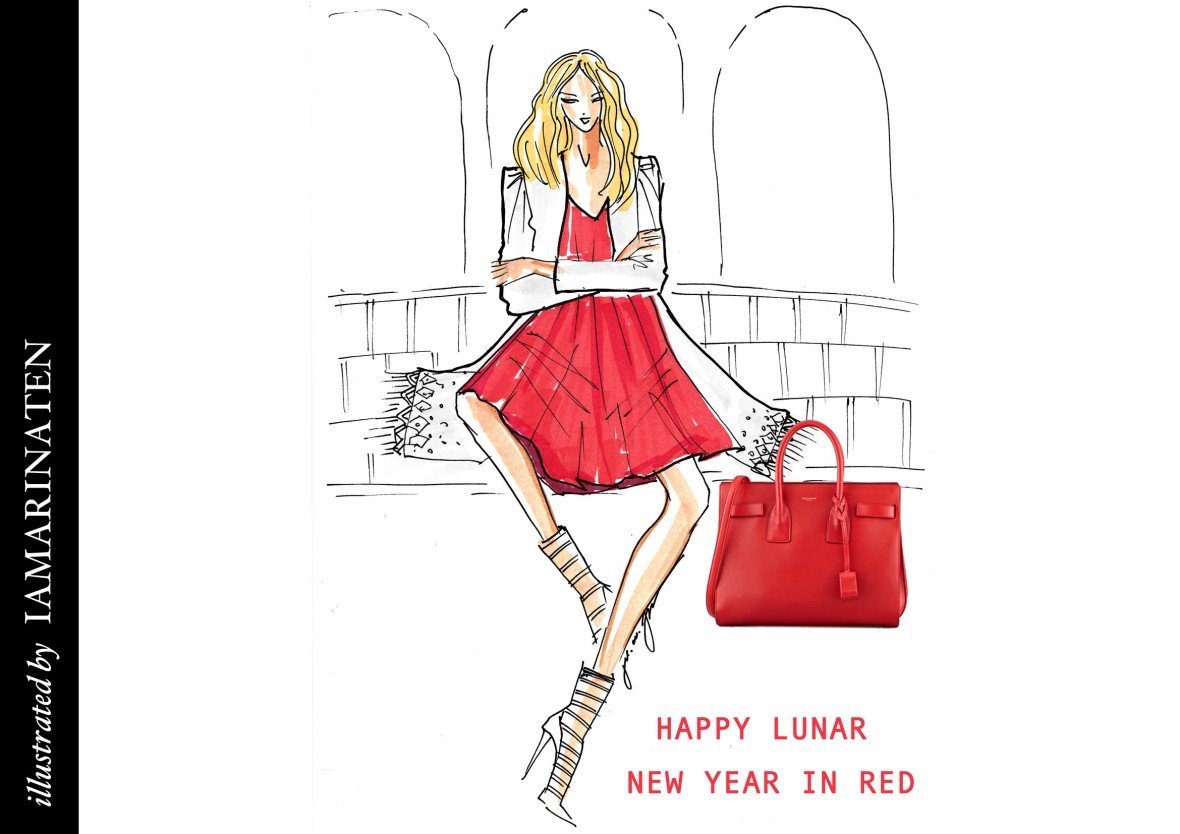 Happy Lunar NY in red